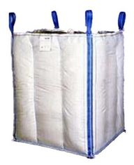 1.5 Tons 4 Panel Baffle Big FIBC Bulk Bag Blue / Orange Color For Loading